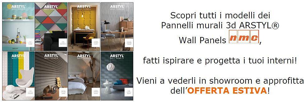 Scopri tutti i modelli dei Pannelli murali 3d ARSTYL Wall Panels NMC, fatti ispirare e progetta i tuoi interni! Vieni a vederli in showroom e approfitta dell'OFFERTA ESTIVA di Milano Color!