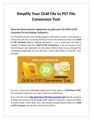 Simplify Your OLM File to PST File Conversion Tool.pdf
