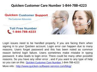 Quicken Installation Phone Number 1-844-788-4223.pptx