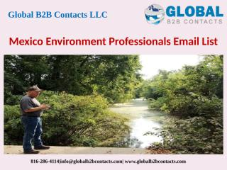 Mexico Environment Professionals Email List.pptx