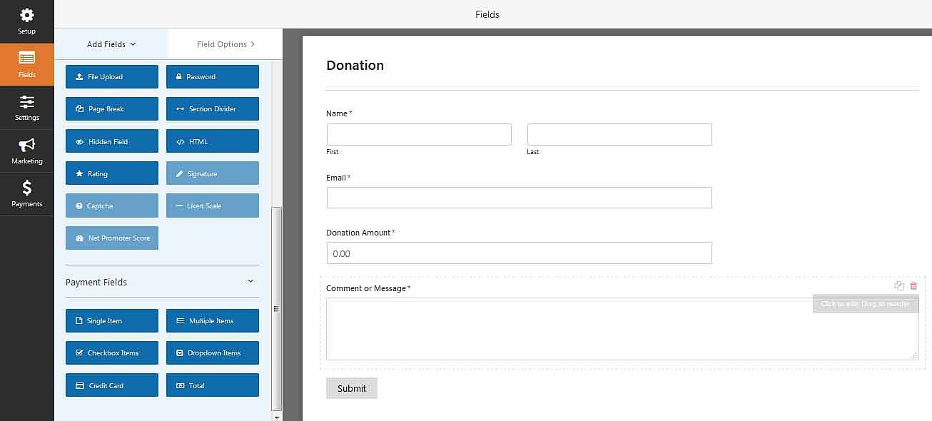 Accept recurring donations from wordpress froms