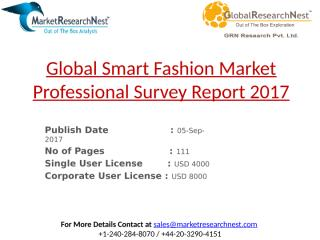 Global Smart Fashion Market Professional Survey Report 2017.pptx