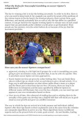 What the Rules for Successful Gambling on soccer tipster's comparison.pdf