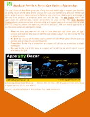 Appsbazar provide a  Perfect Gym Business Solution App.pdf