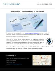 Professional Criminal Lawyers in Melbourne.pdf