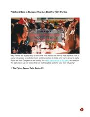 7 Cafes & Bars In Gurgaon That Are Best For Kitty Parties.pdf