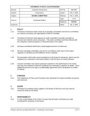Corporate Governance - Board Committees Policy.doc