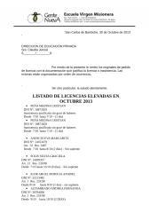 Nota de elevaci+¦n de licencias de Octubre 2013.doc