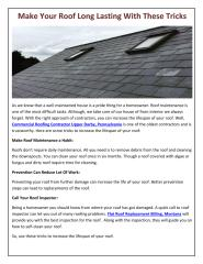 Make Your Roof Long Lasting With These Tricks.pdf