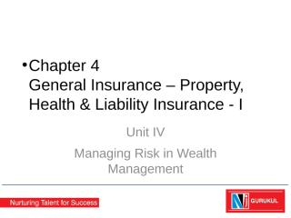 Chapter 4 - GI –Property, Health and Liability Insurance(1).pptx
