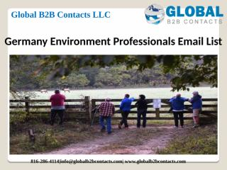 Germany Environment Professionals Email List.pptx